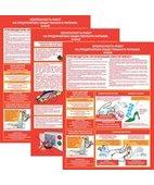 Плакат «Безопасность работ на предприятии общественного питания. Кухня» (594 х 420 мм) 3 листа