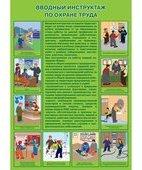 Плакат «Вводный инструктаж по охране труда» (594 х 420 мм)