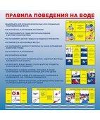 Стенд «Правила поведения на воде (Пластик 1000 x 1000)»