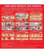 Стенд «Умей действовать при пожаре (Пластик 1000 x 1000)»