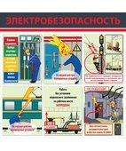 Стенд «Электробезопасность (Пластик 1000 x 1000 к-т из 2 стендов)»