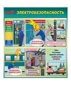 Стенд «Электробезопасность на железной дороге (Пластик 1000 x 900)»