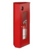 Шкаф ШПО-107 для огнетушителя (открытый,угловой)