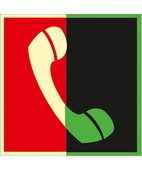 Телефон для использования при пожаре (в том числе телефон прямой связи с пожарной охраной) (Фотолюминесцентный Пленка 200 x 200)